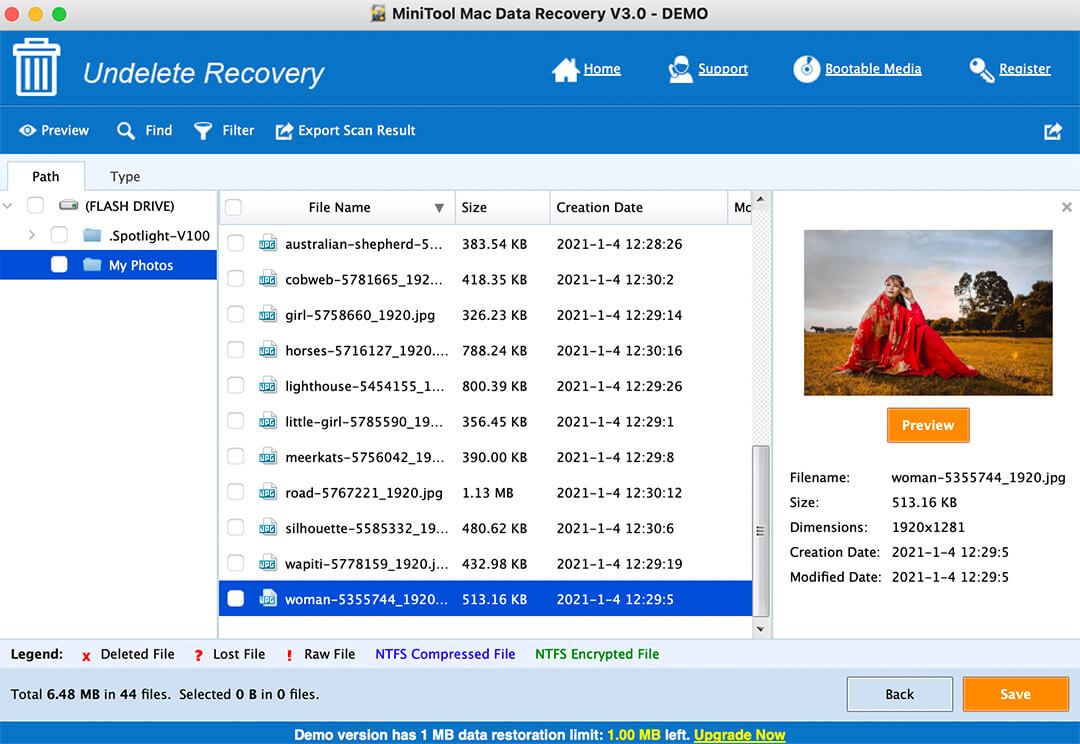 MiniTool Power Data Recovery for Mac