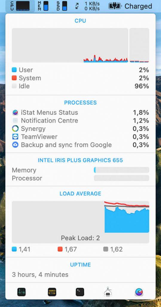 iStat Menus check disk tool