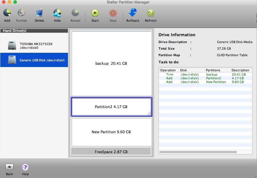 stellar partition manager mac