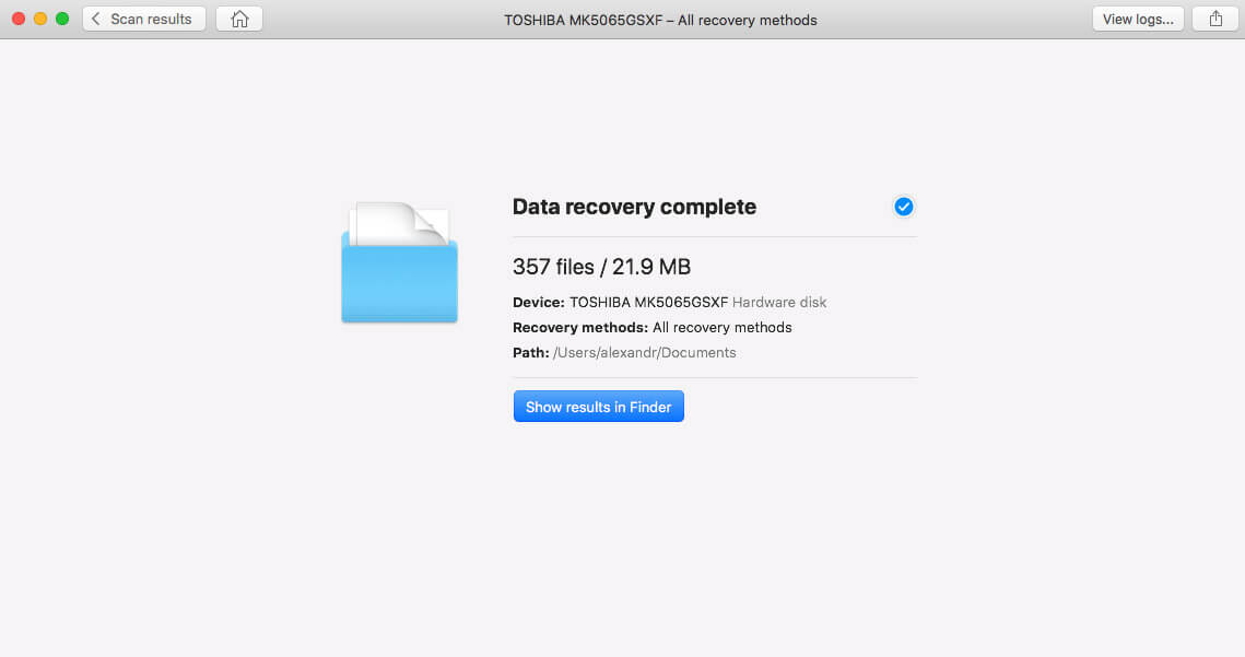 finally complete recover data