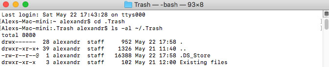 recover deleted files on your Mac using the Terminal app