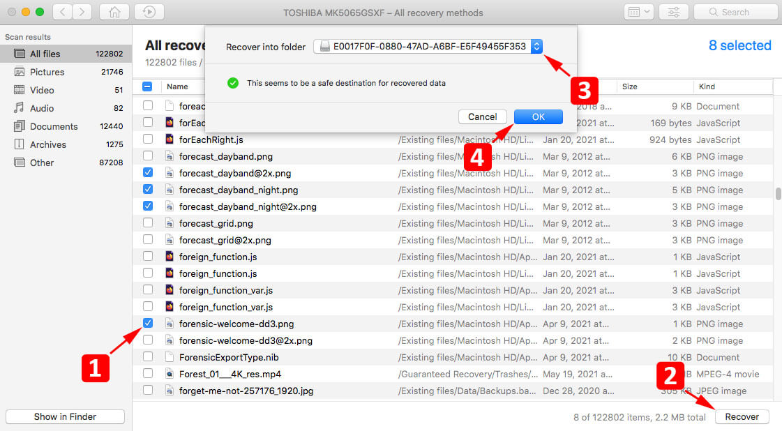 recover deleted files on a mac with data recovery tool
